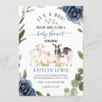 Greenery Farm Baby Shower Invitation