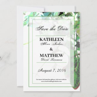 Greenery & Floral Botanical Save the Date