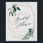 "Greenery Floral Bridal Shower Welcome Sign<br><div class=""desc"">Floral Gold Bridal Shower Welcome Sign</div>"