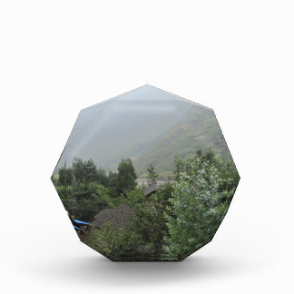 greenery grass mountain acrylic award
