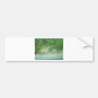 greenery grass mountain bumper sticker