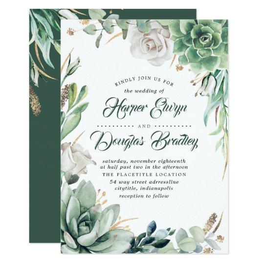 Succulent Floral Wedding