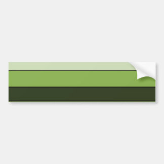 Greenery Green Horizontal Stripes Pattern Elegant Bumper Sticker