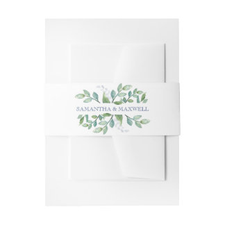 Greenery Invitation Belly Band
