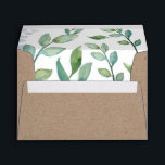 """Greenery Kraft Envelope<br><div class=""""desc"""">A lush greenery envelope liner and kraft paper design. This envelope compliments VG Invites Greenery Suite. Expertly designed by Victoria of VG Invites. To see more visit www.zazzle.com/vginvites</div>"""