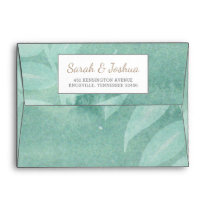 Greenery Laurel Wedding Envelope