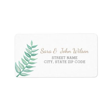 Greenery Laurel Wedding Label