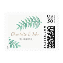 Greenery Laurel Wedding postage