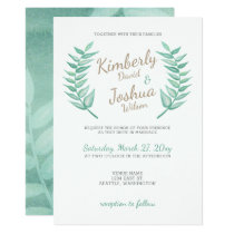 Greenery Laurel Wreath Wedding Invitation