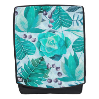 Greenery Leaf and Succulent Backpack