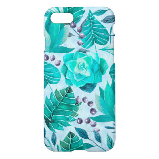 Greenery Leaf and Succulent iPhone 8/7 Case