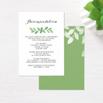 Greenery Leaves Botanical Wedding details card