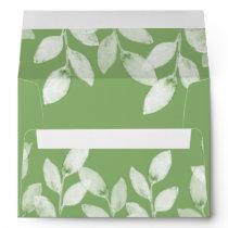 Greenery Leaves Botanical Wedding Envelope