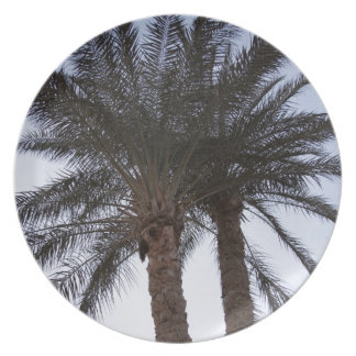 Greenery of palm trees dinner plates