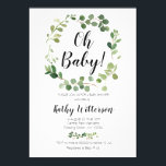 """greenery oh baby shower invitation<br><div class=""""desc"""">greenery oh baby shower invitation Wording can be changed into any occasion</div>"""