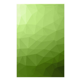 Greenery ombre gradient geometric mesh stationery