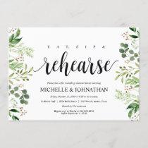 Greenery Rustic Wedding Rehearsal Dinner Invites