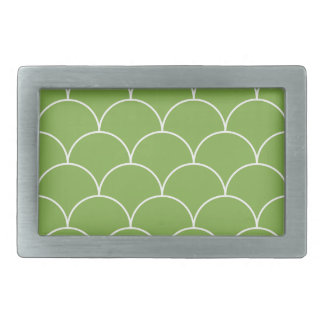 Greenery scales pattern rectangular belt buckle