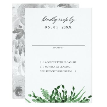 Greenery Simple Wedding rsvp cards