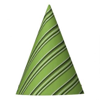 Greenery Stripes Pattern Green Stripe Elegamt Party Hat