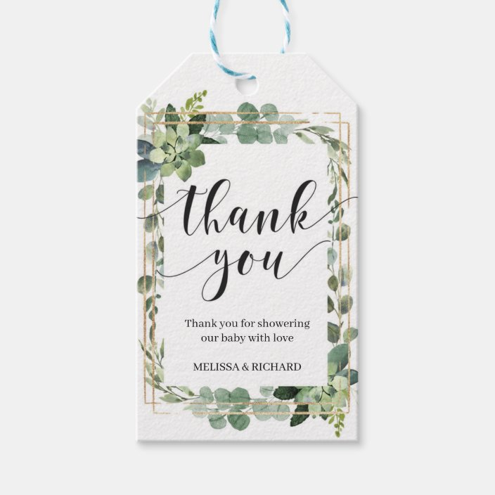 Botanical gift tags  Printable digital download  Botanical succulents foliage green grey  Cacti gift tags  Succulent gift tags