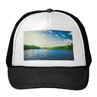 Greenery Themed, Green And Dense Forest Area Aroun Trucker Hat