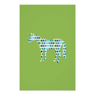 Greenery Unicorn Stationery
