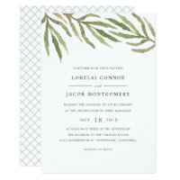 Greenery | Watercolor Botanical Wedding Invitation