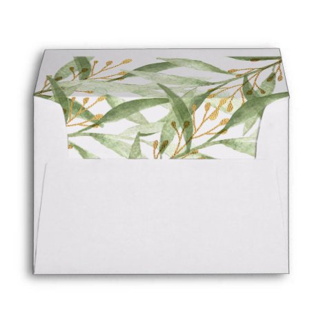 Greenery watercolors green envelopes for 5x7 card