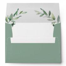 Greenery Wedding Coordinating Envelope