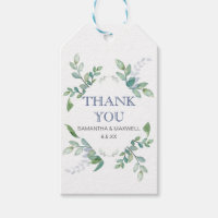 Greenery Wedding Favor Gift Tags