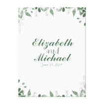 Greenery Wedding Guestbook Canvas Print