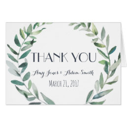 Greenery Wedding - Thankyou Note Card