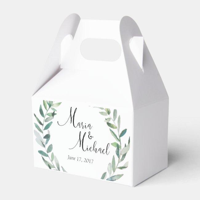 Greenery Wedding Wedding Favor Boxes