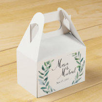 Greenery Wedding Wedding Favor Boxes
