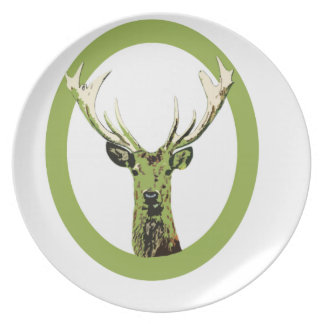 Greenery Wild Deer Party Plates
