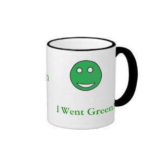 greenface, I Went Green!!, Quochoice.com Ringer Mug