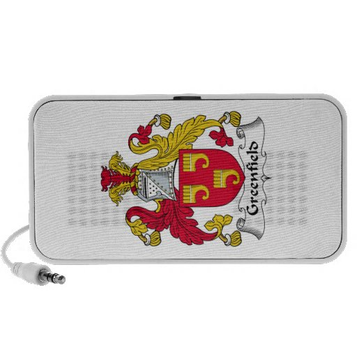 Greenfield Family Crest iPhone Speakers