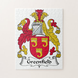 Greenfield Family Crest Jigsaw Puzzle