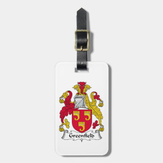 Greenfield Family Crest Tag For Luggage