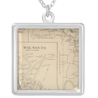 Greenfield, Hillsborough Co Square Pendant Necklace