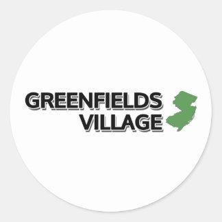 Greenfields Village, New Jersey Round Stickers