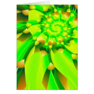 GreenFlower Greeting Card