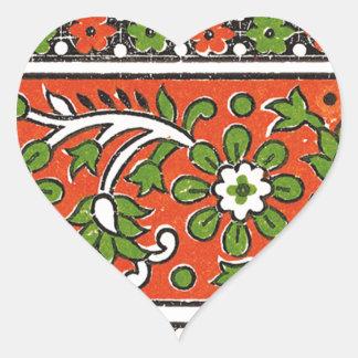 greenFlower Heart Sticker