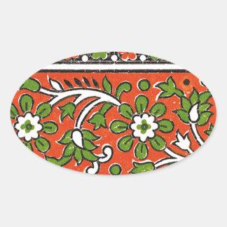 greenFlower Oval Sticker
