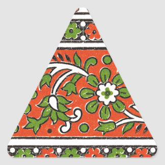 greenFlower Triangle Sticker