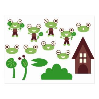GreenFrogMix1 Postcard