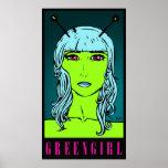 Greengirl - impresión del poster