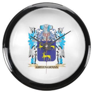Greengrass Coat of Arms - Family Crest Fish Tank Clocks