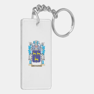 Greengrass Coat of Arms - Family Crest Double-Sided Rectangular Acrylic Keychain